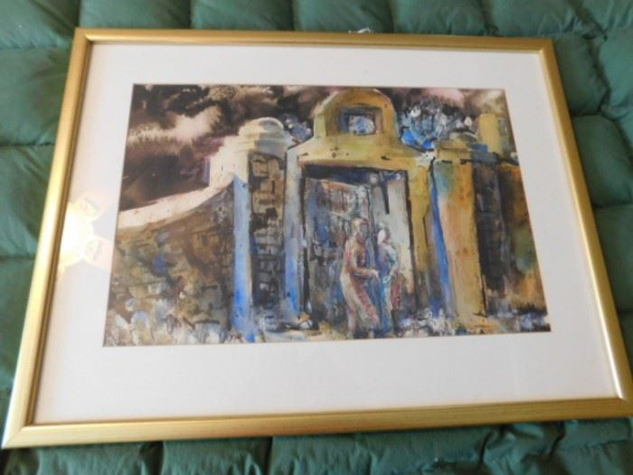 "Nancy Stewart  Watercolor ""Moonlit meeting""  New Mexico artist"