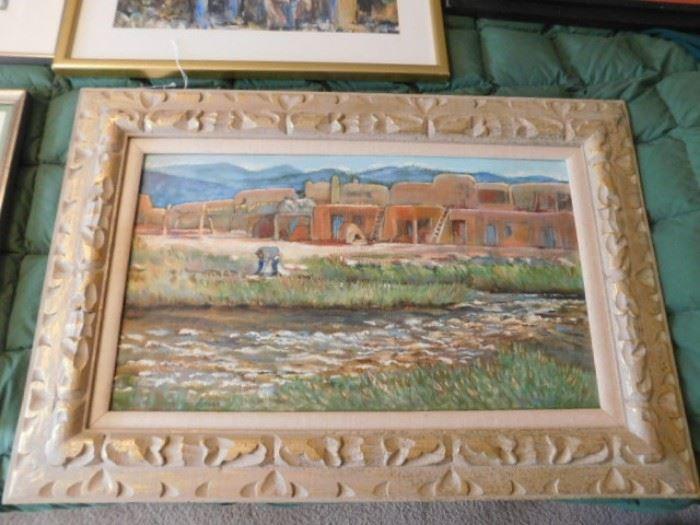 M.C. Luther, Taos Pueblo Oil