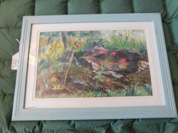 "Mack Bergonson , Taos New Mexico watercolor ""Taos Spring Celebration"""