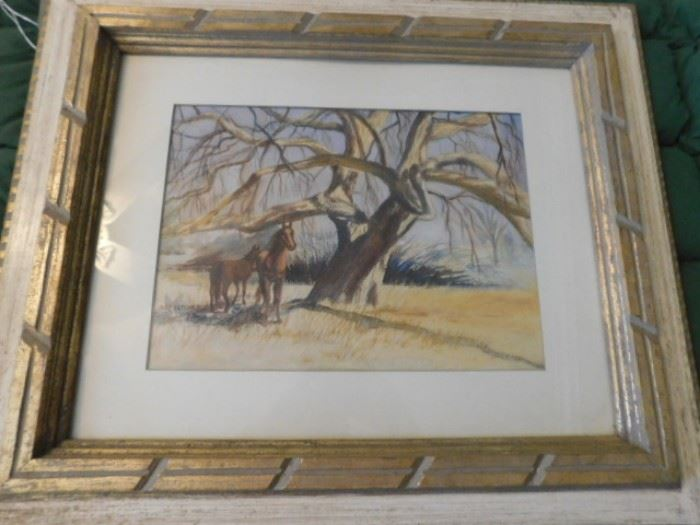 """M.C. Luther watercolor """"The Lin tree"""