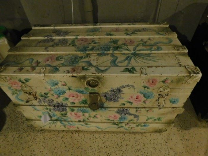 Hand-painted trunk