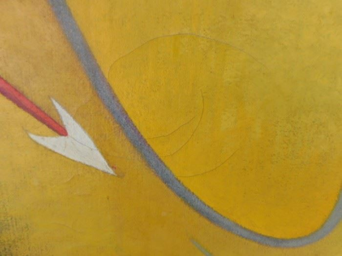 Bill Bomar Abstract oil Taos Modern Artist  swirl  damage