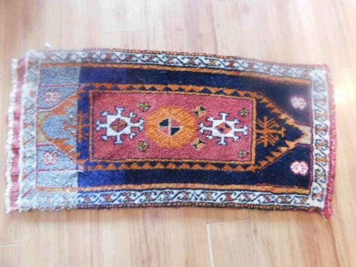 Handmade woven rug
