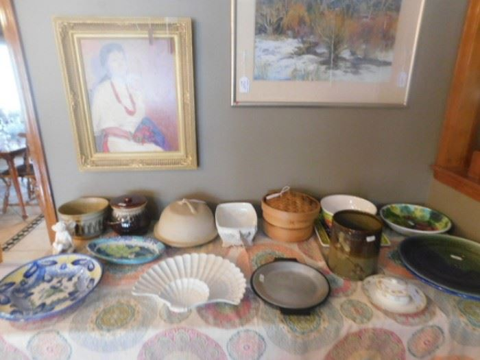 Hand made pottery and kitchen items
