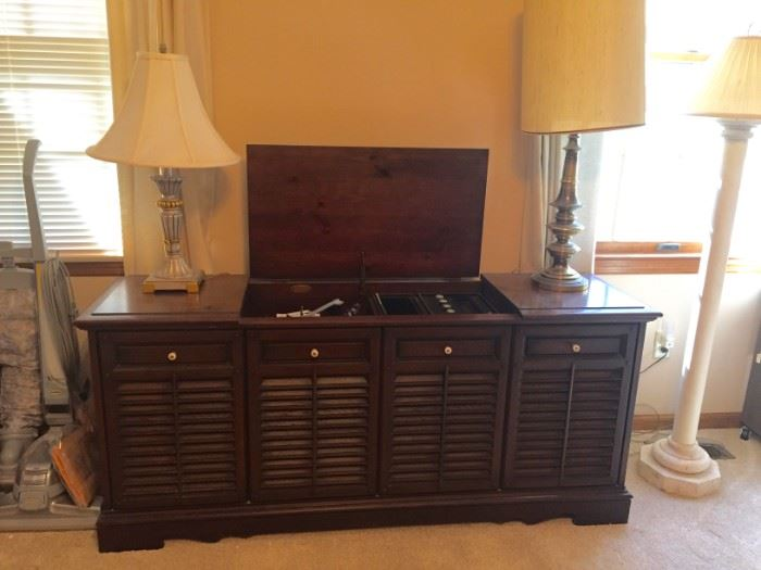 Mid-century stereo system