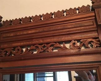 Just look at the ornate carvings on this very old Eastlake dresser.