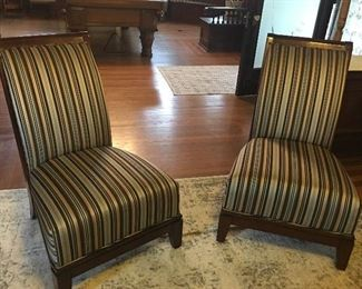 look at these wonderful arm less chairs