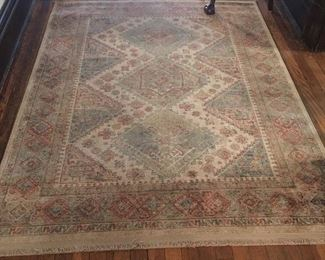 Many area rugs in this home.