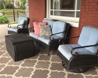 lovely rattan patio furniture.