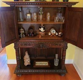 Antique Walnut Dry Bar