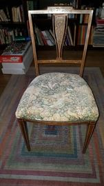 Antique Chair with Mother of Pearl Inlay Repaired