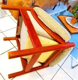 Frame and condition of the teak furniture is excellent. The cushions need to be replaced