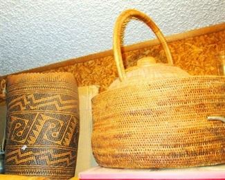 Hand Woven Baskets From New Guinea