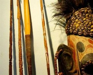 Spear and arrow collection from New Guinea
