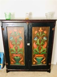 Cabinet from Sweden - hand painted front doors