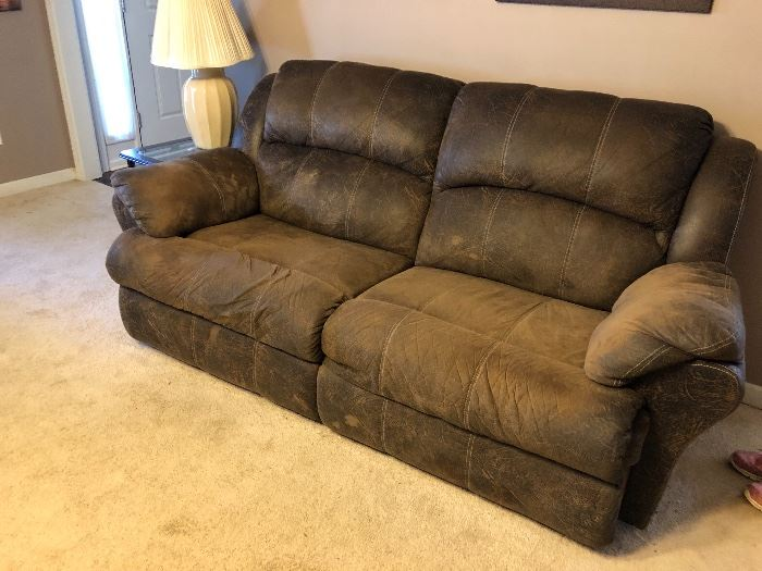 There are 2 of these - electric double recliner sofas
