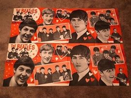 "(""2"" ) The Beatles Original 1964 Dell Banner Poster  18"" x 53"""