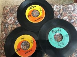 45's - Beach Boys and Richie Valens Records along with many more!