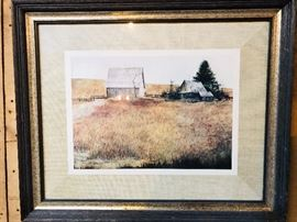 Farm scene framed print