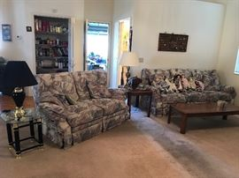 Dolls, matching reclining sofa and love seat! Everything goes