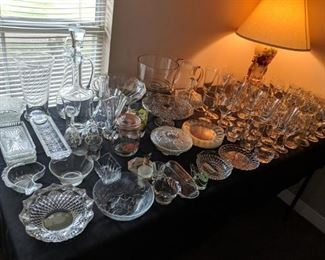 Antique glass dishes