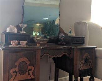 Antique makeup desk