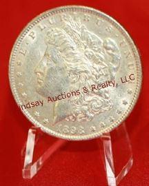 12 - 1898 US Silver Morgan Dollar nice detail