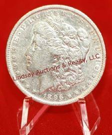 11 - 1896 US Silver Morgan Dollar