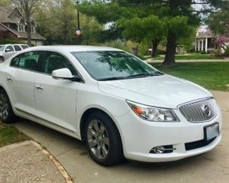 Buick Lacrosse $14,895 2011 15,000 miles. Single owner. Excellent condition.  This will not be sold till the sale opens at 9a Friday but we will offer showings or test drives till then. If interested, call Michelle at 573 881 0800.
