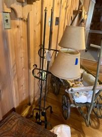 #6	(2) floor lamps metal $75 ea.	 $150.00