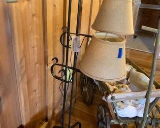 #6(2) floor lamps metal $75 ea. $150.00