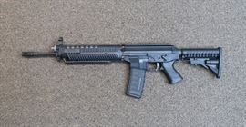 """LOT # 5 - SIG-SAUER """"SIG 556"""" RIFLE                                               AUCTION ESTIMATE - $1,100.00 - $1,600.00           CALIBER 5.56, CONDITION IS LIKE NEW, 1ST GENERATION, GAS OPERATED WITH ADJUSTABLE GAS LEVER, COLLAPSIBLE STOCK, AMBI SELECTOR, PICATINNY RAIL WITH 1 MAG."""
