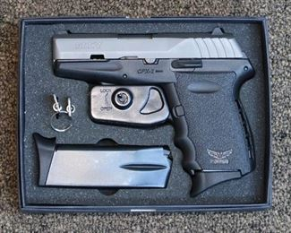 LOT # 3 - SCCY CPX-2 PISTOL                                                                                    AUCTION ESTIMATE - $225.00 - $300.00                      CALIBER 9MM, CONDITION IS NEW IN THE BOX