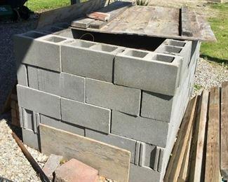 Cinder Block Pig Roasting Pit
