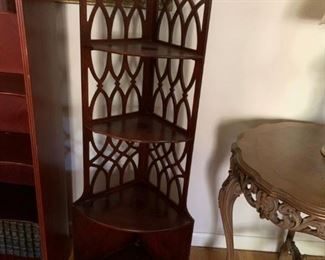 #5Wood Corner 5 shelf   13x55  $75.00