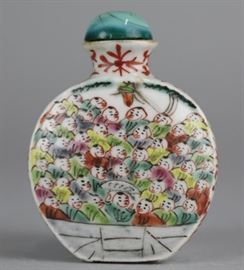 Chinese porcelain snuff bottle, possibly 18th/19th c., overall: 2.5in(H)