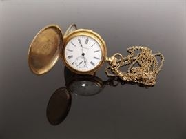 Antique Waltham 14k Gold Filled Pocket Watch Model 1890