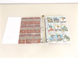 Binder of 237 Topps 1970's Football Cards