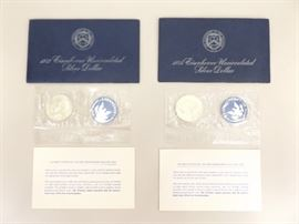 1973 and 1974 US Mint Eisenhower Silver Dollars