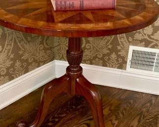 "11. Marquetry Accent Table (27"" x 27"")"