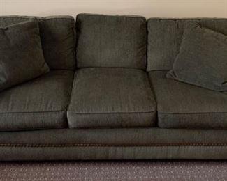 "29. Cerrito Furniture Inclusturies Chenille Sleeper Sofa w/ Nailhead Detail (85"" x 36"" x 35"")"