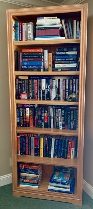 "75. Bookcase w/ 6 Shelves (33"" x 12"" x 84"")"