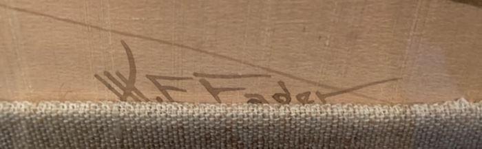 "87. Pair of Vintage Asian Artwork Signed WE Fader (19"" x 23"")"
