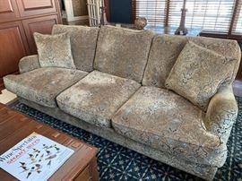 "5. Lee Industries 3 Cushion Taupe Chenille Sofa (84"" x 44"" x 32"")"