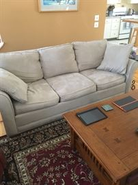 Suede leather couch sofa