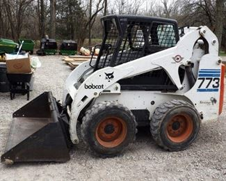 2000 Ingersoll-Rand Bobcat Model #773 Turbo Diesel, Rubber Tire,790 Hours, Includes Smooth Tooth Bucket, Vin #519011055