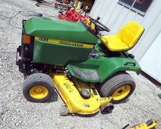 "John Deere 445 Lawn Tractor With All-Wheel Steering, 60"" Mowing Deck, ID #MOD445DO71063"