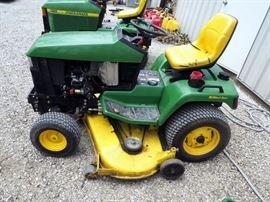 "John Deere 445 Lawn Tractor With All-Wheel Steering, 60"" Mowing Deck, ID #MOD445DD60223"