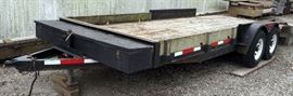 1997 18' Starlite Flatbed Utility, Double Axle Trailer With Tool Box, VIN#13YFS1827VC067151, GVWR 2-5200, Model #820185CRH