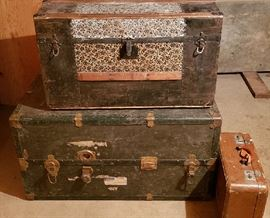 Old trunks make great coffee tables!